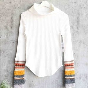 Free people ivory thermal sweater